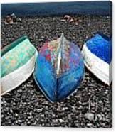 Boats On The Shingle Canvas Print