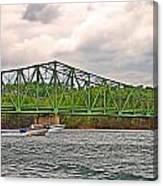 Boats Under Bridge Canvas Print