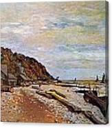 Boatyard Near Honfleur Canvas Print