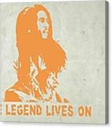 Bob Marley Yellow 4 Canvas Print