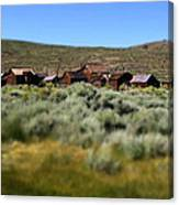 Bodie Ghost Town Landscape Canvas Print
