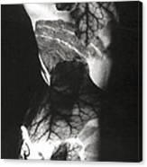 Body Projection Woman - Duplex Canvas Print