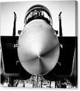 Boeing F-15sg Eagle Black And White Canvas Print