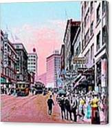 Bon Marche Department Store In Seattle Wa In 1910 Canvas Print
