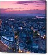 Bonn Panorama - Stadthaus Canvas Print