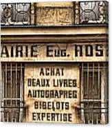 Book Seller Provence Canvas Print