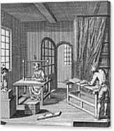Bookbinder, 1763 Canvas Print