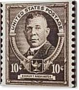 Booker T Washington Postage Stamp Canvas Print