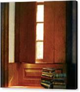 Books On A Window Seat Canvas Print