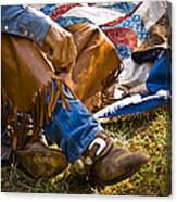 Boots And Quilt On The Trail Canvas Print