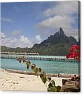 Bora Bora Private Beach Canvas Print