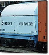 Bordens Milk Tank Car Canvas Print