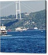 Bosphorus Traffic Canvas Print