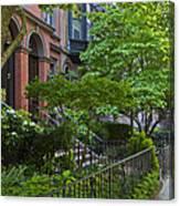 Boston Beacon Hill Street Scenery Canvas Print