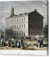 Boston: Faneuil Hall, 1776 Canvas Print