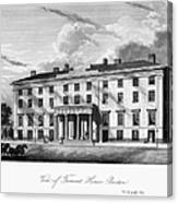 Boston: Hotel, C1835 Canvas Print