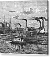 Boston: Iron Foundry, 1876 Canvas Print