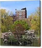 Boston Public Garden Pond In Spring Canvas Print