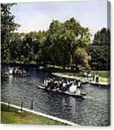 Boston: Swan Boats, C1900 Canvas Print