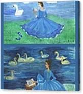 Both Swan Lake Readers Canvas Print