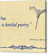 Bottled Poetry Canvas Print