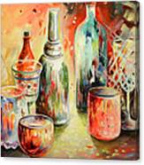 Bottles And Glasses And Mugs 03 Canvas Print
