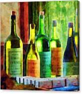 Bottles Of Wine Near Window Canvas Print