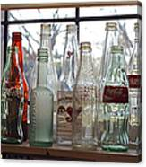 Bottles On The Shelf Canvas Print