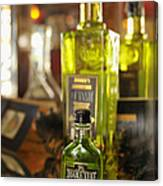 Bottles With Absinthe In Bar Canvas Print