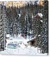 Bottom Of Ski Slope Canvas Print