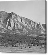 Boulder Colorado Flatiron Scenic View With Ncar Bw Canvas Print