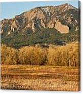 Boulder Colorado Flatiron View From Jay Rd Canvas Print