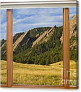 Boulder Colorado Flatirons Window Scenic View Canvas Print