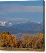 Boulder County Colorado Continental Divide Autumn View Canvas Print