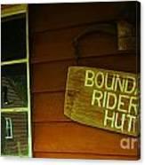 Boundary Riders' Hut Canvas Print