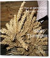 Bounty. Thanksgiving Greeting Card Canvas Print