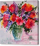 Bouquet Of Wishes Canvas Print