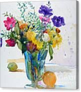 Bouquet Study With Anemones Canvas Print