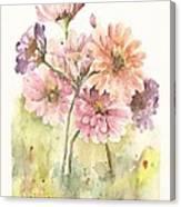 Bouquet Zinnias II Canvas Print