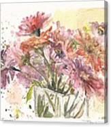 Bouquet Zinnias Canvas Print
