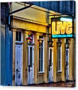 Bourbon Live - French Quarter Canvas Print