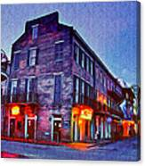 Bourbon Street In The Quiet Hours Canvas Print