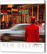 Bourbon Street Man In Red Suit Canvas Print