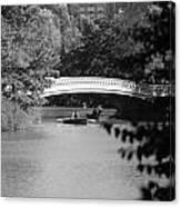 Bow Bridge In Black And White Canvas Print
