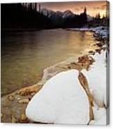 Bow River Sunrise Canvas Print