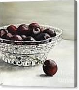 Bowl Full Of Cherries Canvas Print