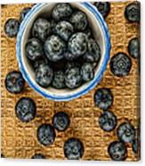 Bowl Of Fresh Blueberries Canvas Print