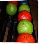 Bowling Balls Canvas Print