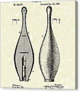 Bowling Pin 1895 Patent Art Canvas Print