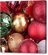Box Of Christmas Decorations  Canvas Print